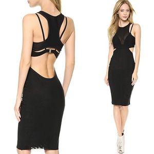 NEW Bec & Bridge Kathy Mesh Dress Sz 6 Black $290